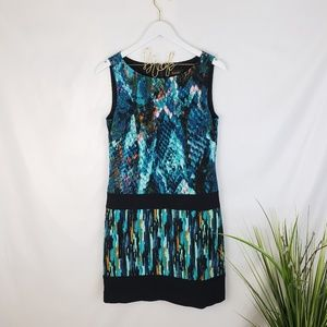 Laundry by Shelli Segal Blue Patterned Dress 4